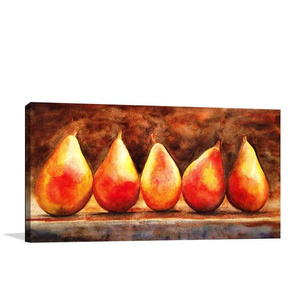 Still Life Of Pears Canvas Art Prints