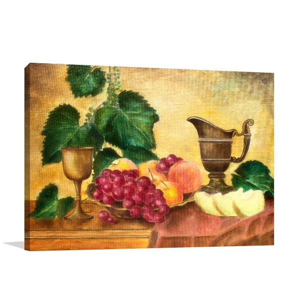 Still Life With Melon Canvas Prints