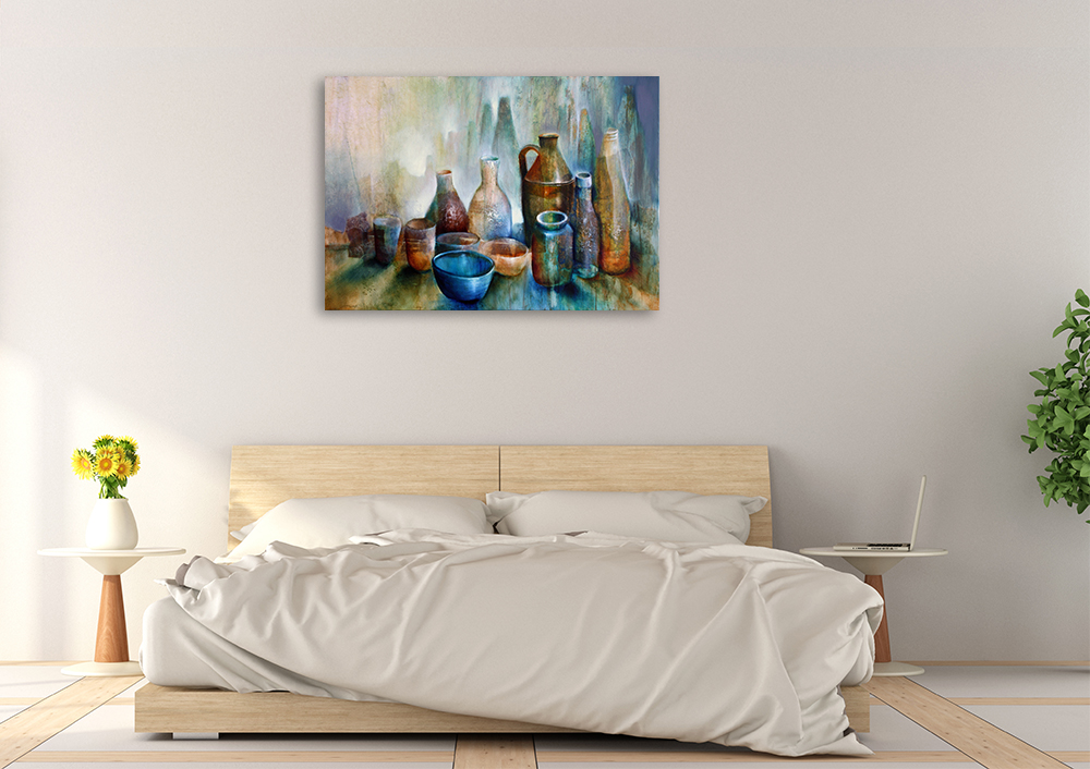 Still Life With Blue Bowl | Canvas Prints