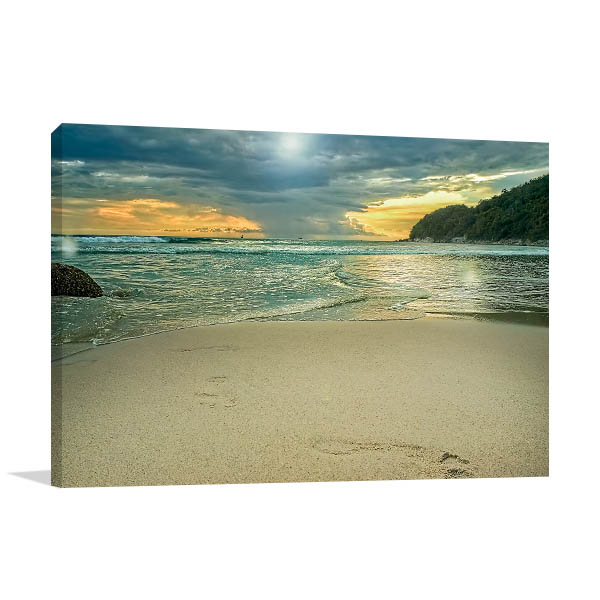 Storm Clouds By The Sea Prints Canvas