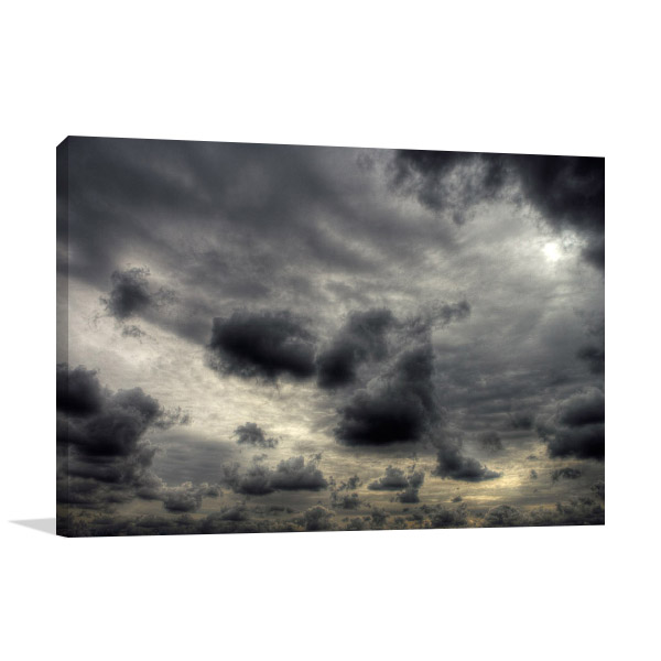 Storm Clouds Wall Print Canvas