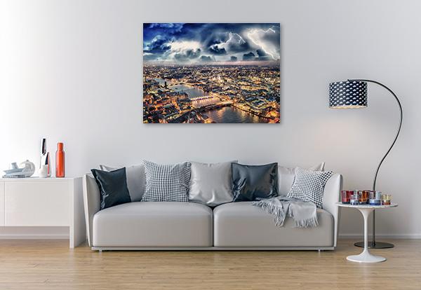 Storm Over London Skyline Canvas Prints