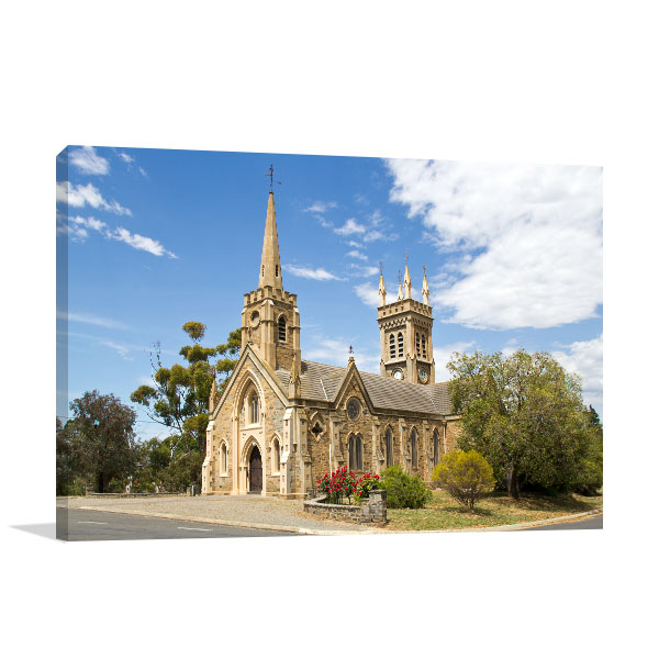 Strathalbyn Canvas Print St Andrews Church Wall Art