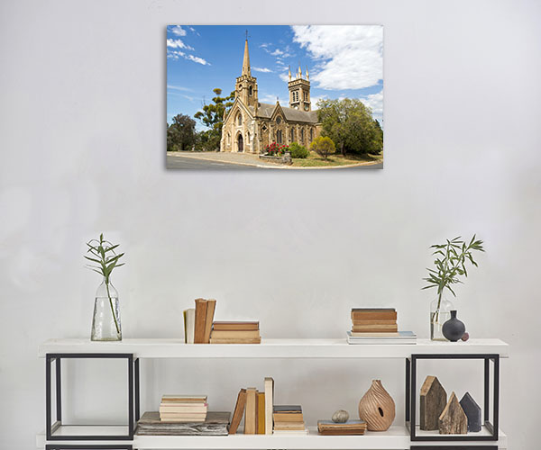 Strathalbyn Canvas Print St Andrews Church Canvas Artwork