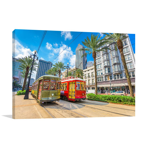 Street Cars Canvas Art Prints