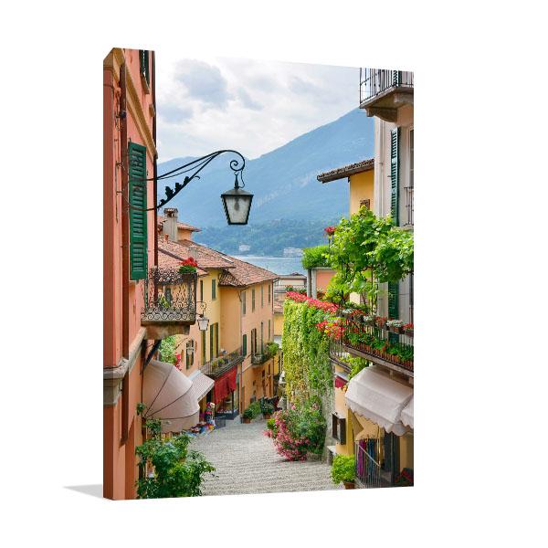 Street View In Bellagio Canvas Art Prints