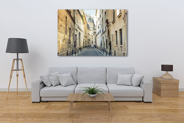 Streets of Montmartre France Canvas Prints