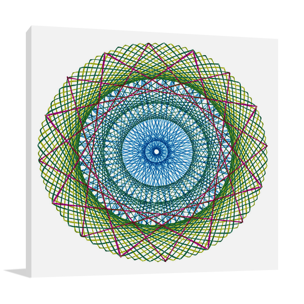 String Multicolor I Wall Art Print