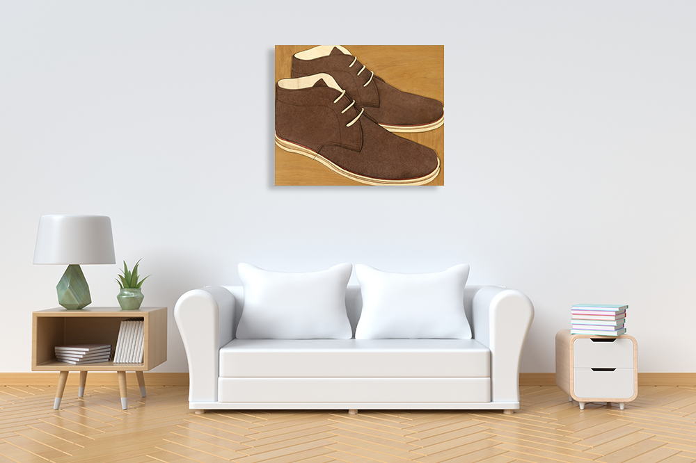 Brown Shoes Canvas Art