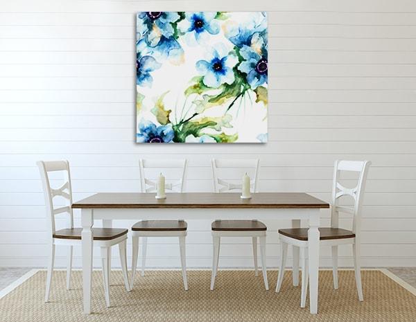 Summer Blue Art Print on the Wall