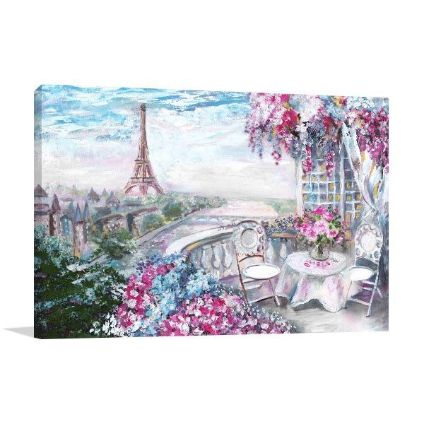 Summer Cafe in Paris Art Prints