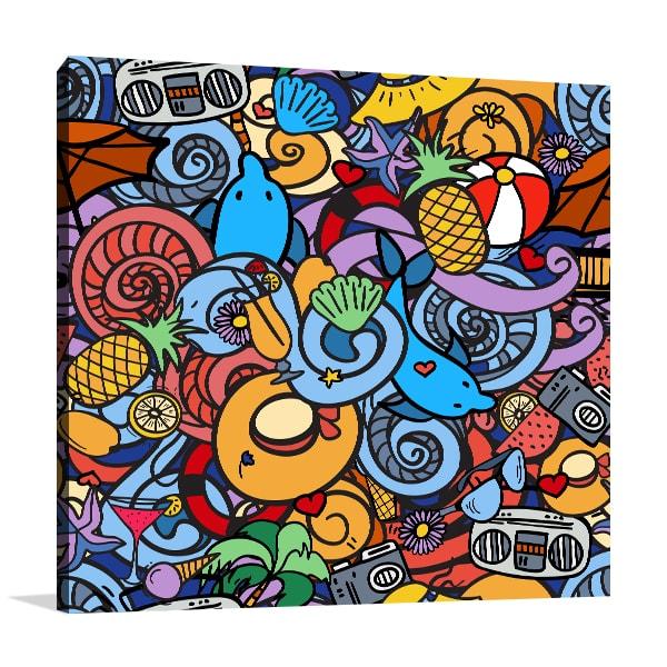 Summer Holidays Canvas Art