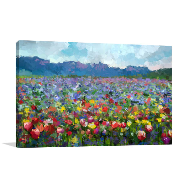 Summer Rural Landscape Canvas Art Prints