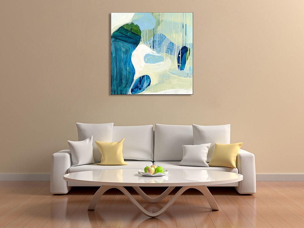 Abstract Blue Contemporary Canvas Art