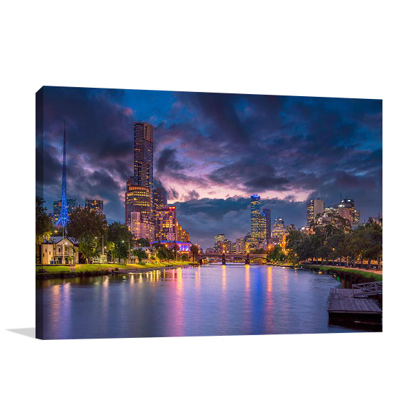 Print on Canvas | Summer Sunset Melbourne