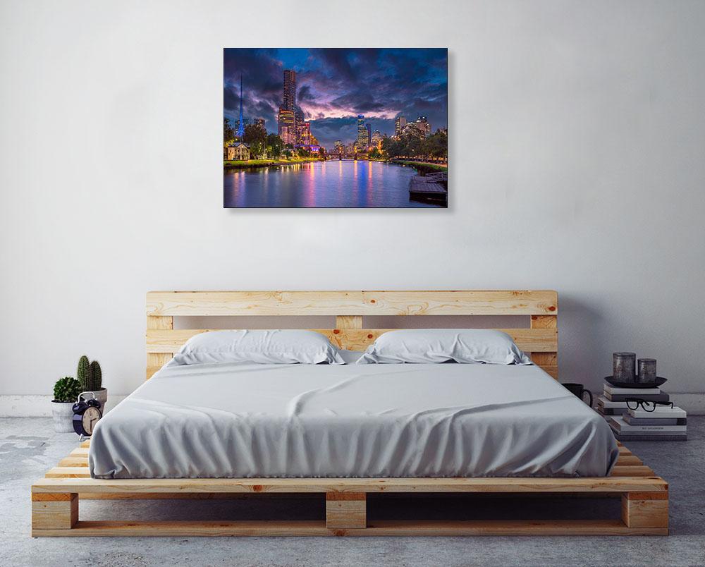 Melbourne Australia Sunset Print
