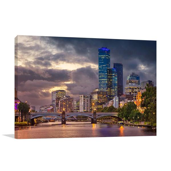 Summer Sunset Melbourne Canvas Print
