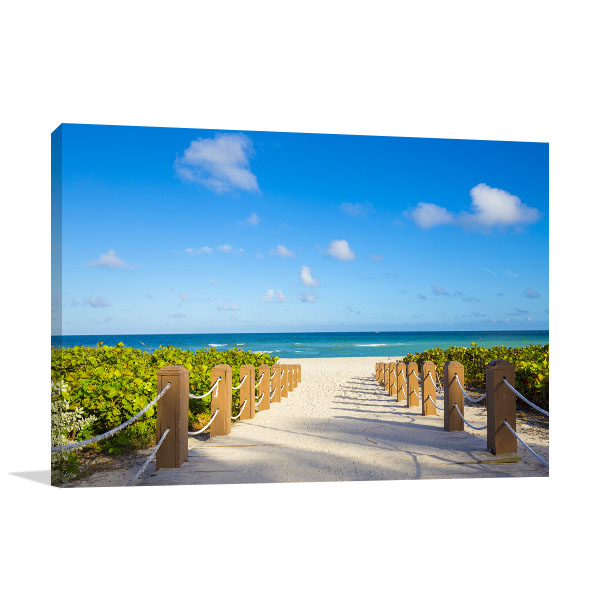 Summer Walkway Canvas Art Prints