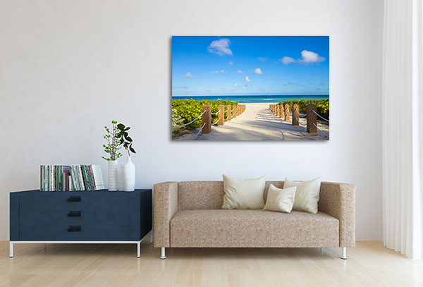 Summer Walkway Prints Canvas