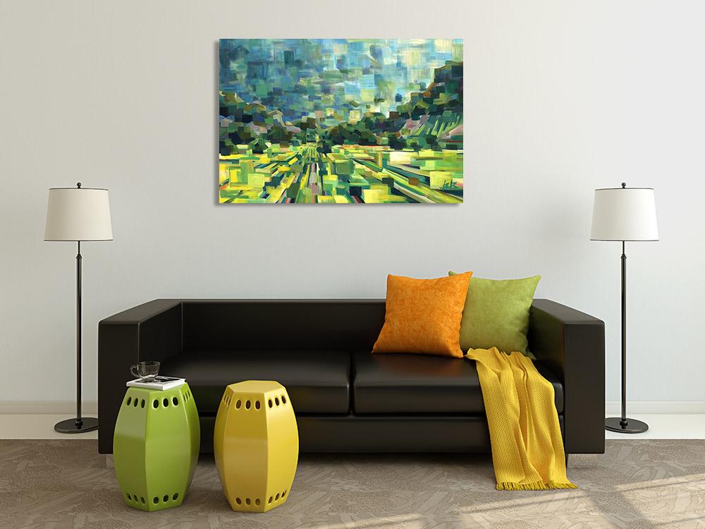 Green Landscape Canvas Art