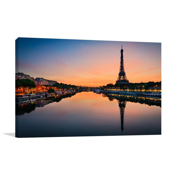 Sun Rises in Paris Canvas Art
