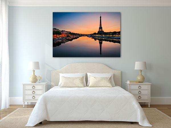 Sun Rises in Paris Canvas Prints
