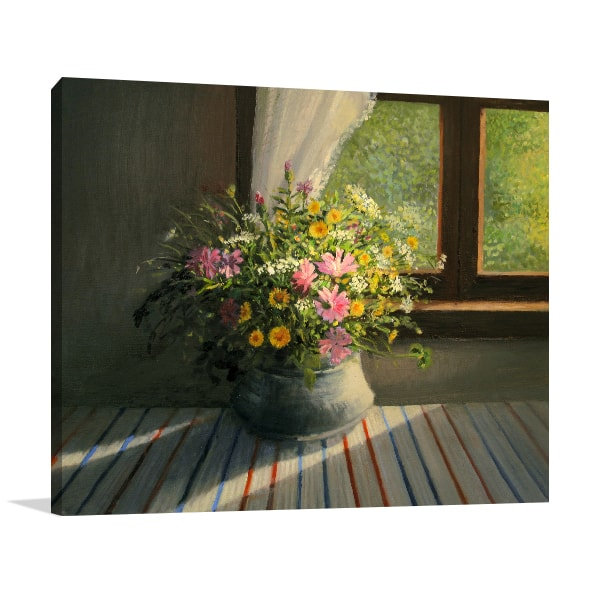 Sunbeam Window Canvas Art Print