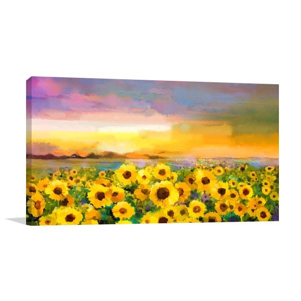 Sunflower Field Wall Canvas