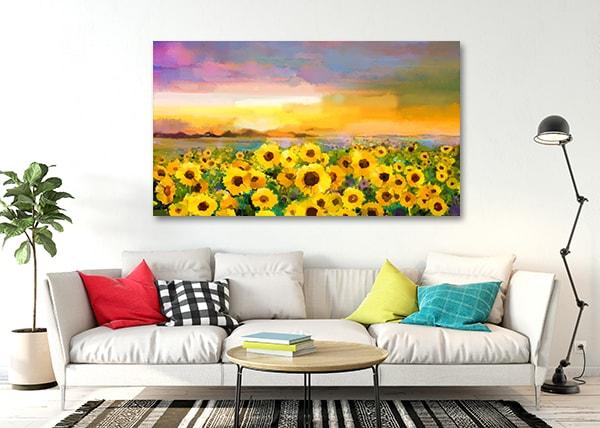 Sunflower Field Art Prints