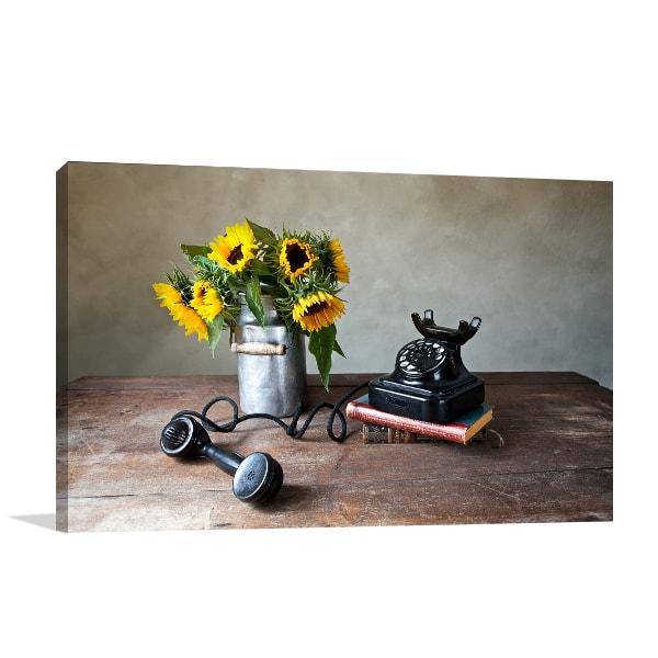Sunflower Phone Canvas Prints