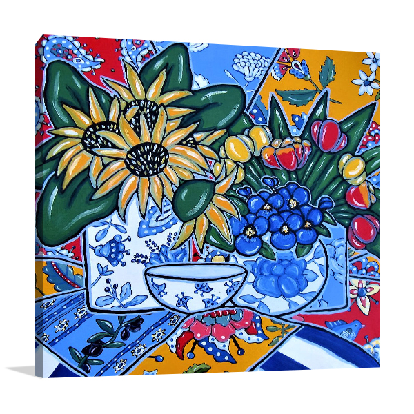 Brooke Howie | Sunflowers and Pansies Canvas Wall Arts