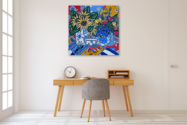 Brooke Howie | Sunflowers and Pansies Wall Art