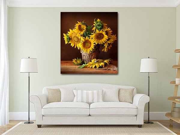 Sunflowers Canvas Art on the Wall