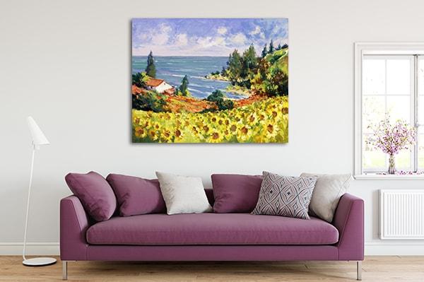 Sunflowers Landscape Canvas Prints