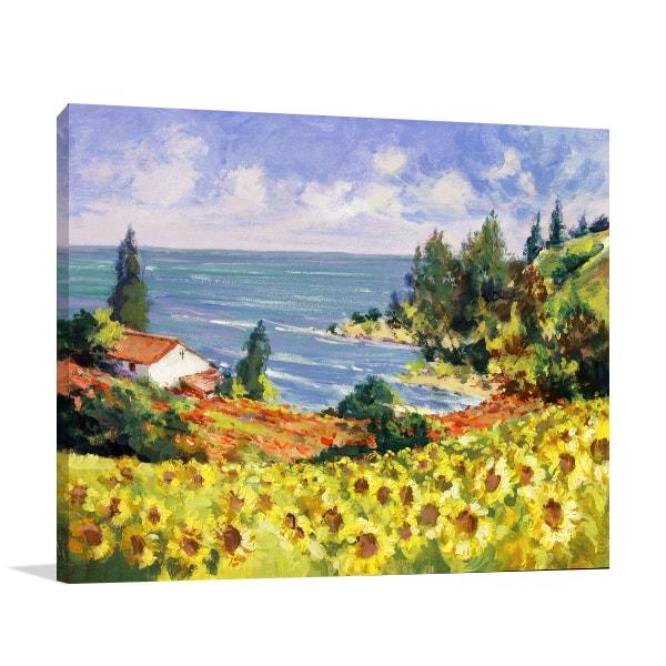 Sunflowers Landscape Wall Art