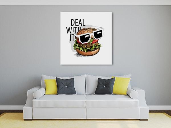 Sunglass Burger Canvas Art
