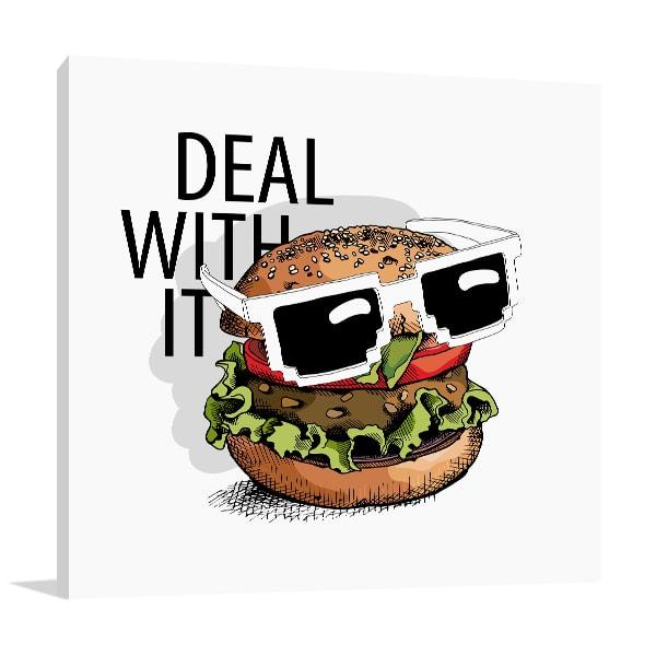 Sunglass Burger Art Prints
