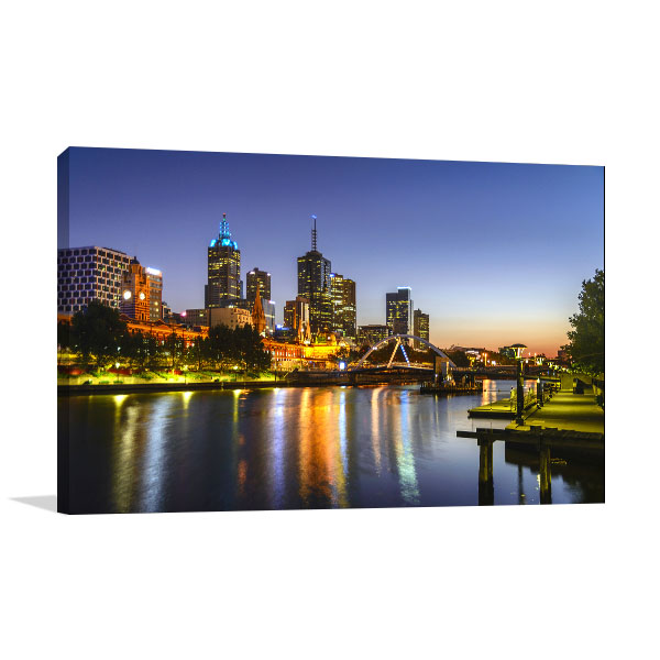 Sunrise On Yarra River Artwork