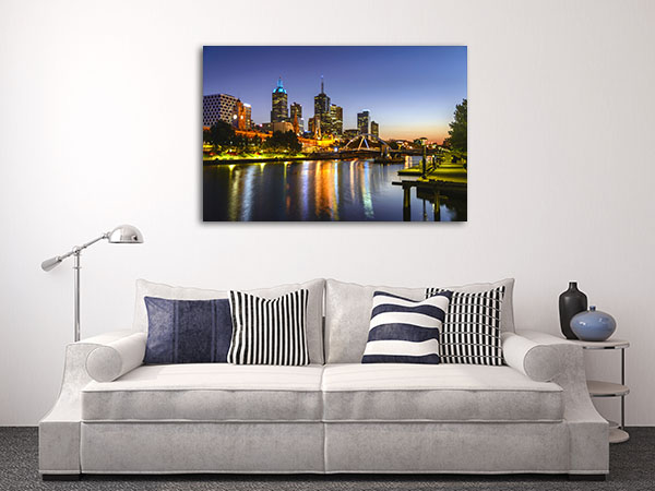 Sunrise On Yarra River Canvas Prints