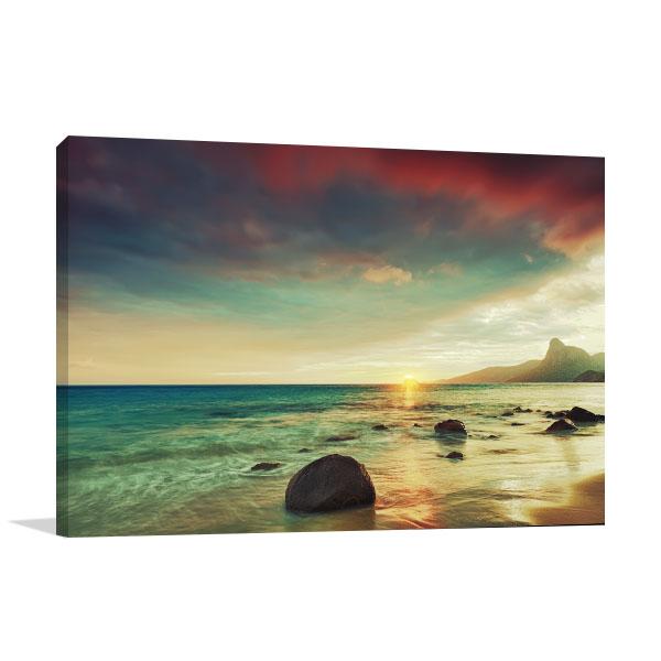 Sunrise Over The Sea Canvas Art