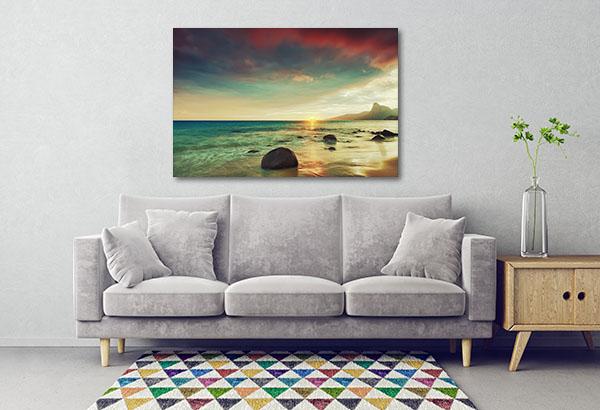 Sunrise Over The Sea Canvas Prints