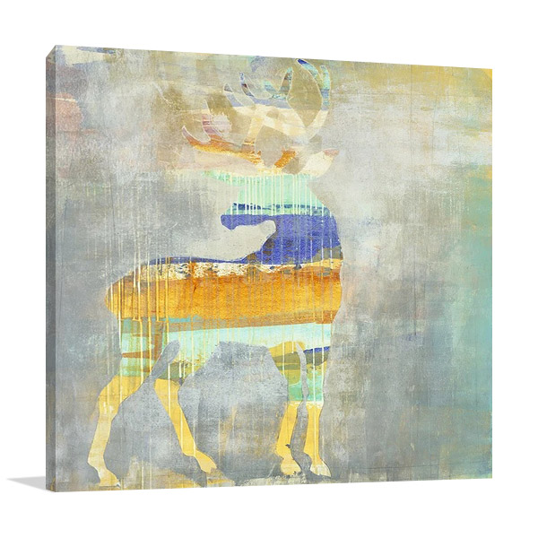 Sunrise Stag Canvas Print | Harris