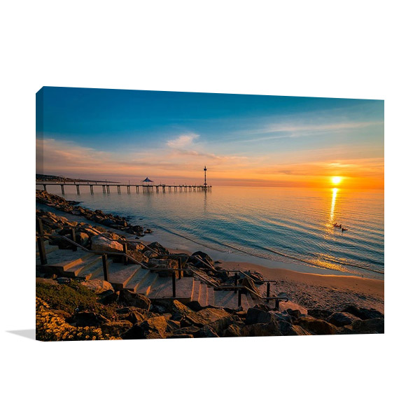 Sunset at Brighton Beach Wall Print
