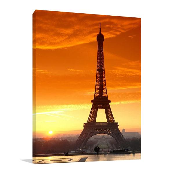 Sunset at Eiffel Tower Canvas Print