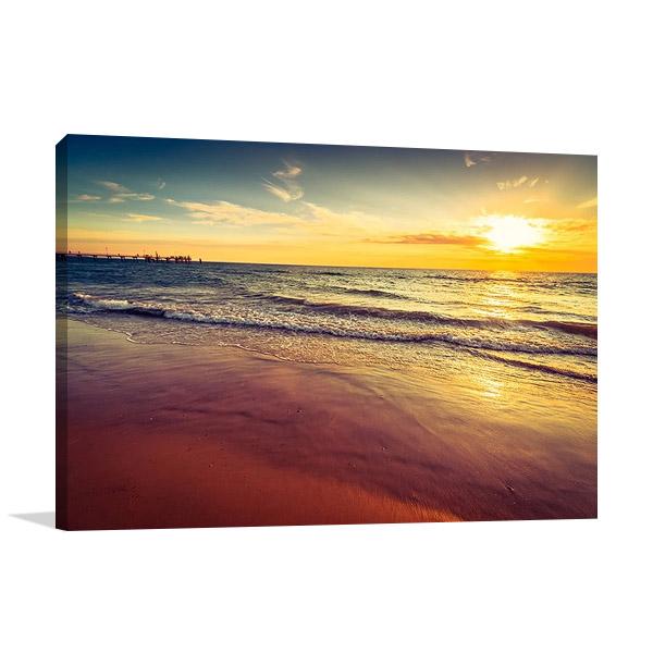 Sunset at Glenelg Beach Australia