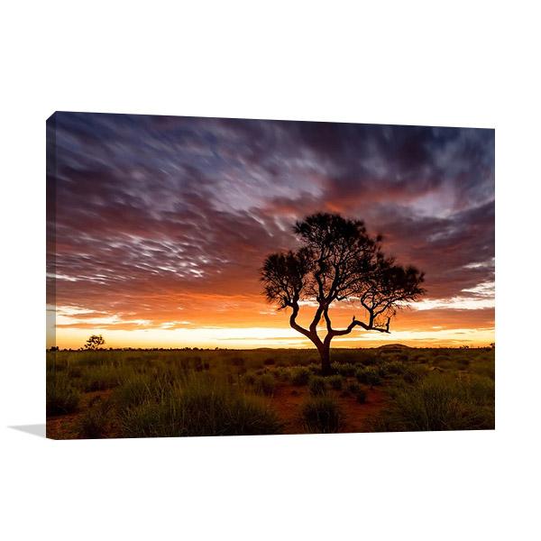 Sunset at Pilbara Region Australia Print