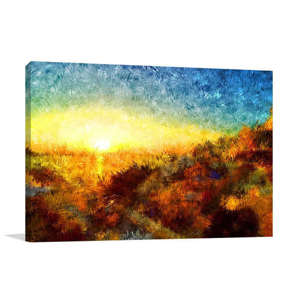 Sunset in Greece Wall Print