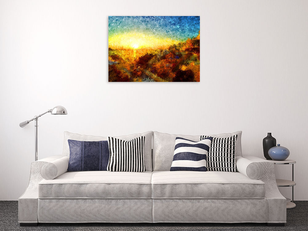 Impressionist Print Art on Canvas