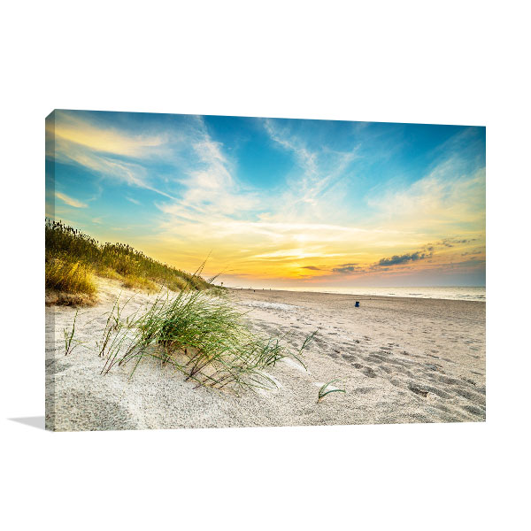 Sunset In Sand Dunes Artwork