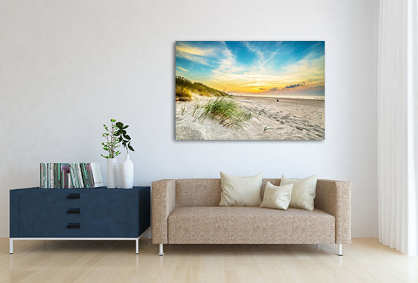 Sunset In Sand Dunes Wall Art